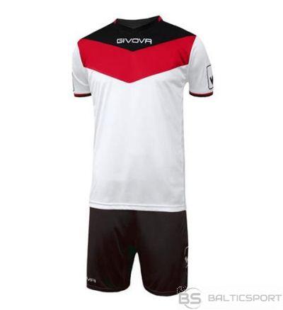 Givova Kit Campo futbola forma - sarkans ar baltu un melnu