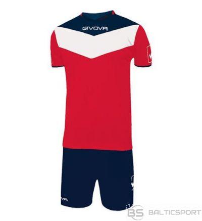 Givova Kit Campo futbola forma - sarkans un zils