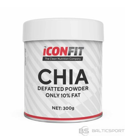 ICONFIT Čia milti ar samazinātu tauku saturu (300g) Chia Powder Defatted