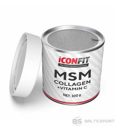 ICONFIT MSM Collagen + Vitamin C (300g) kolagēns + vitamīns C