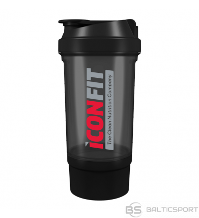 ICONFIT šeikeris 500ml, divdaļīgs Shaker 500ml w. bottom storage
