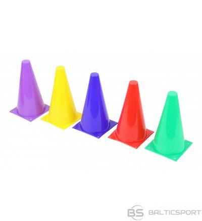 Konusi sporta treniņiem / spēlēm / stafetēm - 23cm, dažādas krāsas