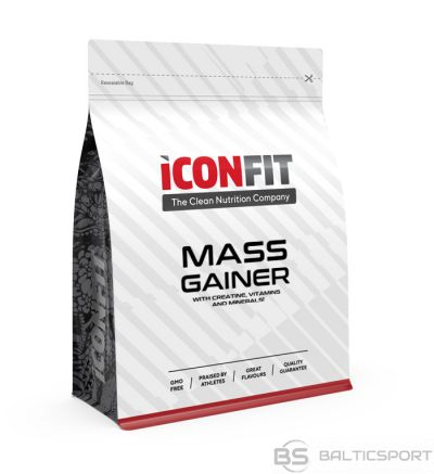 ICONFIT Svara palielinātājs (1,5kg) MASS Gainer - Chocolate (Carb 5:1 Protein) dažādas garšas