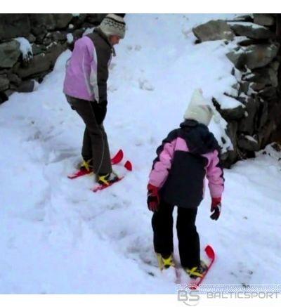 Junior min iplastmasas Slēpes ar stiprinājumiem - uzvelkamas uz apaviem 56cm/ plastic skiis