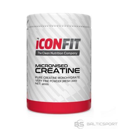 ICONFIT Kreatīna monohidrāta pulveris (400g) Micronised CREATINE Monohydrate