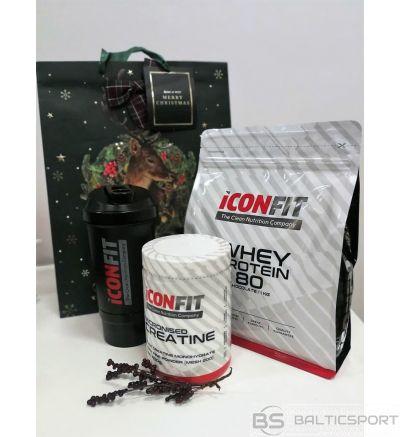 Dāvanu komplekts Iconfit - Whey proteīns (šokolādes) + kreatīns + šeikeris
