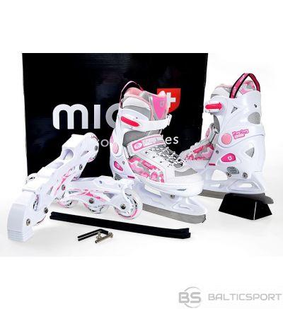 Regulējama izmēra slidas 1in1 Mico Princess / adjustable skates 2in1