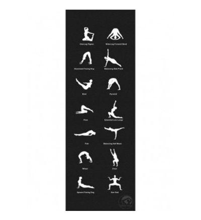 Jogas paklājiņš ar zīmējumiem / vingrojumiem 180 x 60 x 0,45 cm